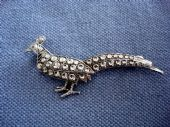 Vintage Peacock ( or maybe even Peahen) Brooch